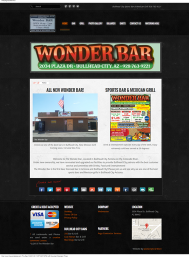 The Wonder Bar, Bullhead City bar and Mexican Grill