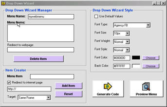 Drop Down Menu Generator Software