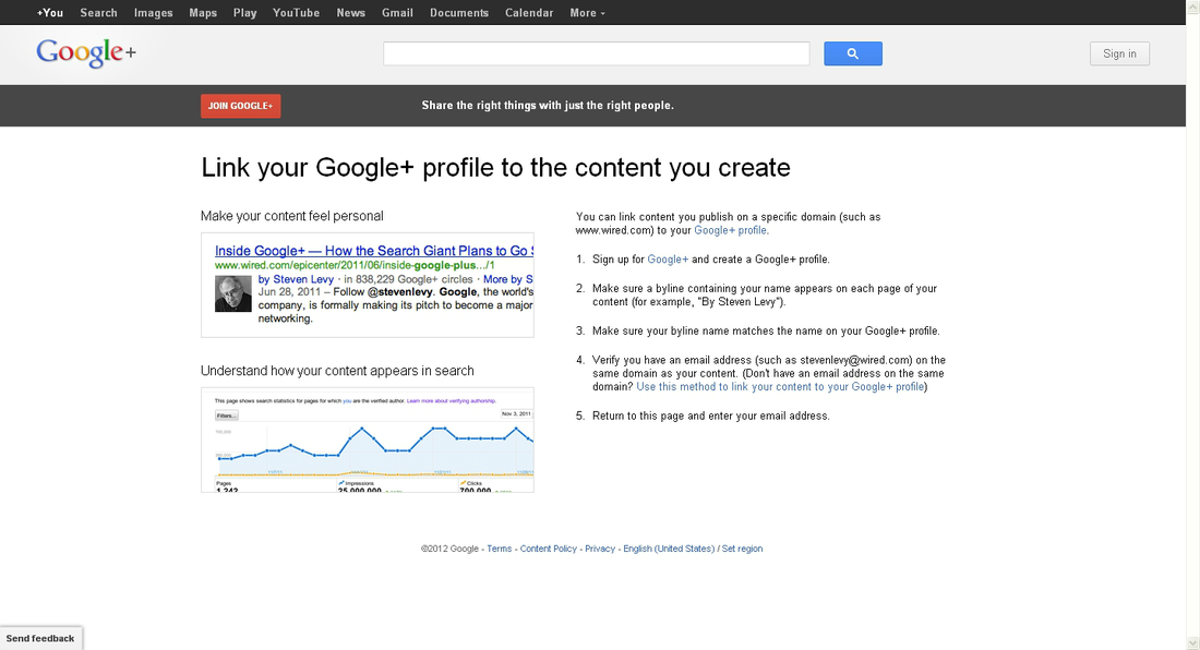 Google Authorship Page