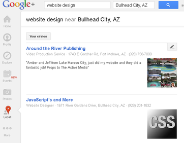 Bullhead City Website Design