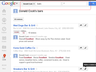 Donald Cook's Google+ Reviews